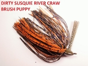 Brush Puppy Jigs - River Craw - Dirty Susquie