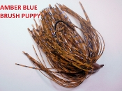 Brush Puppy Jigs - Pumpkins - Amber Blue