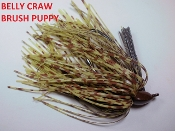 Brush Puppy Jigs - Pumpkins - Belly Craw