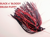 Brush Puppy Jigs - Black - Black n' Bloody