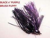 Brush Puppy Jigs - Black - Black n' Purple