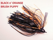 Brush Puppy Jigs - Black - Black n' Orange