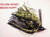 Brush Puppy Jigs - Black - Yellow Jacket