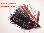 Brush Puppy Jigs - Black - Black Copper