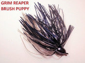 Brush Puppy Jigs - Black - Grim Reaper