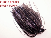 Brush Puppy Jigs - Black - Purple Reaper