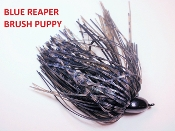 Brush Puppy Jigs - Black - Blue Reaper