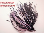 Brush Puppy Jigs - Black - Firecracker