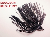 Brush Puppy Jigs - Black - Mega Death