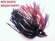 Brush Puppy Jigs - Black - Red Death