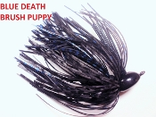 Brush Puppy Jigs - Black - Blue Death