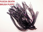 Brush Puppy Jigs - Black - Raspberry Death