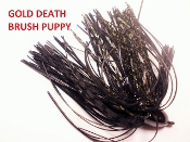 Brush Puppy Jigs - Black - Gold Death