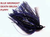 Brush Puppy Jigs - Black - Blue Midnight Death