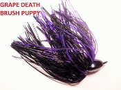 Brush Puppy Jigs - Black - Grape Death
