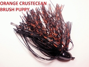 Brush Puppy Jigs - Black - Orange Crustacean