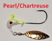 STC Horsehead Underspin - 1/4 oz Pearl/Chartreuse