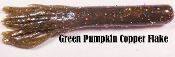 Mizmo Slim Jim Tubes - Green Pumpkin Copper Flake