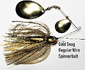 STC Regular Wire Spinnerbait - Gold Snag