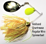 STC Regular Wire Spinnerbait - Gold and Chartreuse