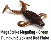 MegaStrike 3 Inch MegaBug - Green Pumpkin Black & Red Flake