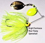 STC River Thump Spinnerbait - Bright Chartreuse