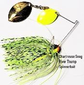 STC River Thump Spinnerbait - Chartreuse Snag