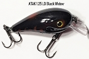 Atak Series 1.25 Crankbait - LD Black Widow