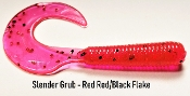 STC 3 in Slender Grub - Red Red and Black Flake